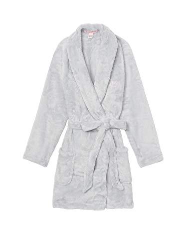 Victoria Secret. Cozy Short Plush Robe 2018 (Flint Grey Silver, M/L)