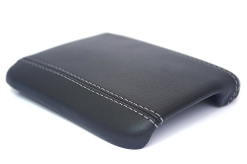 (Fits 2008-2012 Volvo C30-C70-S40-V50 Synthetic Gray Leather Console Armrest Cover . (Skin Only))