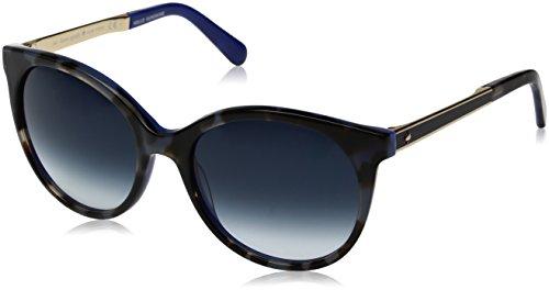 Kate Spade Women's Amayas Round Sunglasses, BLUE HAVANA GOLD/NAVY GRADIENT, 53 ()