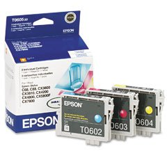 Epson T060520 Multipack Color OEM Genuine Inkjet/Ink Cartridge - Retail (Multi T060520 Pack)