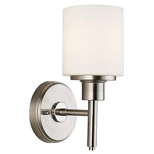 bathroom sconces. Design House 556183 Aubrey 1 Light Wall  Satin Nickel Bathroom Sconces Amazon com