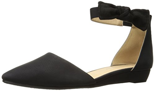 CL by Chinese Laundry Women's Sonje Pointed Toe Flat, Black Nubuck,  8.5 M US