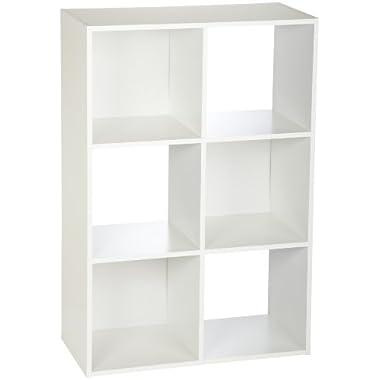 ClosetMaid 8996 Cubeicals 6-Cube Organizer, White