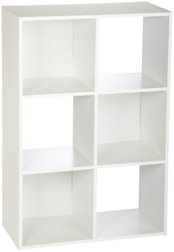 ClosetMaid 8996 Cubeicals Organizer, 6-Cube, White (Tin Stacking)