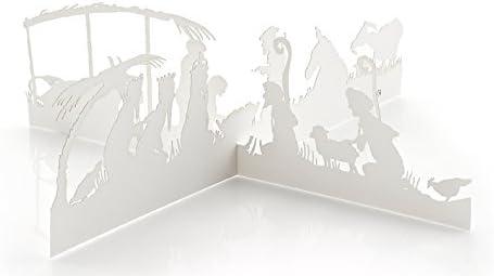 Cuatro moderno Belén Navidad Tarjetas o papel escenas de la Navidad, Por Valerie Atkisson: Amazon.es: Oficina y papelería