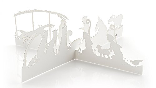 Scene Card Christmas Nativity (Valerie Atkisson Four Modern Nativity Christmas Cards or 3-D Nativity Scenes)