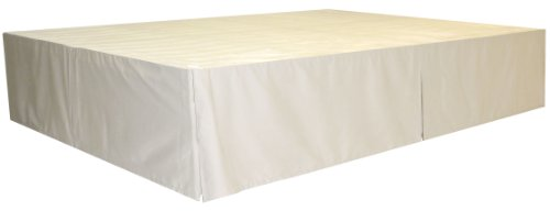 Durabed Frame (DuraBed Steel Platform Bed Frame Decorative Bed Skirt, King, Ivory)