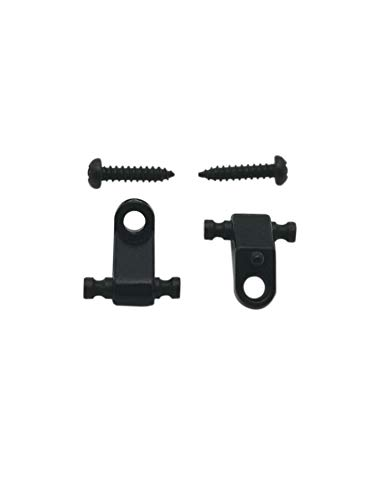 Guyker 2Pcs Guitar Roller String Retainers – Strings Trees Guides with Mounting Screws Replacement for Strat Tele Style Electric Guitar or Bass (Black)