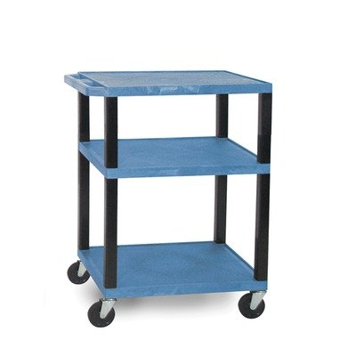 H WILSON WT34GE-N Tuffy AV Cart with Green Shelves, 24'' by H Wilson