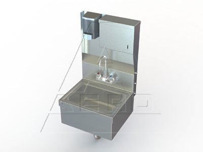 NSF Wall Mount Utility Hand Sink with Stainless Steel Apron