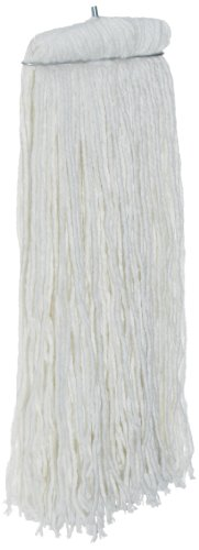 Rubbermaid Commercial Premium Bolt-On Cut End Mop, Rayon, White, FGF46800WH00 (Pro Mop Economy)