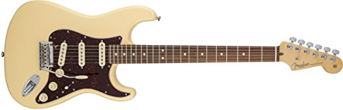 Fender American Standard Stratocaster Guitar with Rosewood Fingerboard and Hard-Shell Case, Vintage White