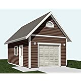Garage plans 2 car with full second story for Car lift garage plans