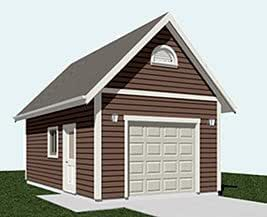 Garage plans 1 car automotive lift garage plan 336 l for Garage with lift plans