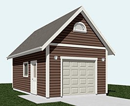 Garage Plans 1 Car Automotive Lift Garage Plan 336 L: car lift plans