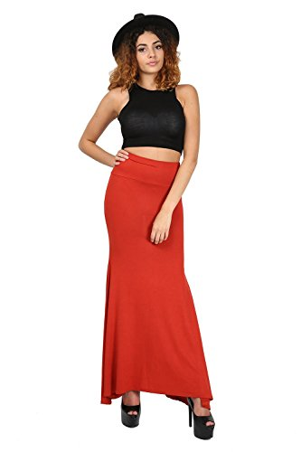 Oops Outlet Neuf Pour Femme Uni élastique Évasé Franki Sur Taille Haute Gypsy Jupe Longue Grande Taille UK 8-22 - Noir, Grande taille (EU 44/46)