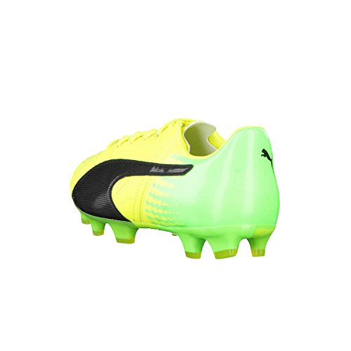 Puma Evospeed 17.2 Lth FG, Scarpe da Calcio Uomo Safety Yellow-Puma Black-Green