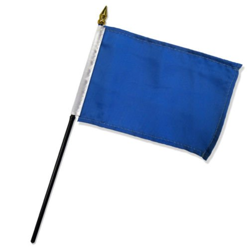 Solid Royal Blue Plain Flag 4''x6'' Desk Set Table Stick Black Base BEST Garden Outdor Decor polyester material FLAG PREMIUM Vivid Color and UV Fade Resistant by Moon
