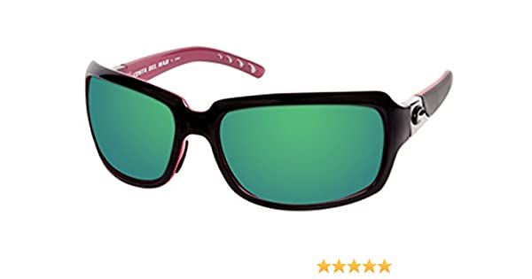 226ad219c7ab Amazon.com: Costa Del Mar Isabela Black and Coral Green Mirror 580G Lens:  Clothing