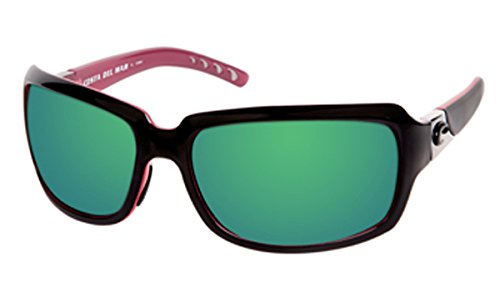 d59217f41debc Costa Del Mar Isabela Black and Coral Green Mirror 580G Lens  Amazon.co.uk   Clothing