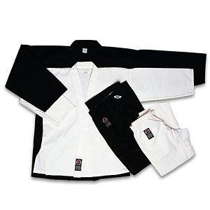 ProForce 10oz. Traditional Karate Uniform Poly/Cotton Uniform Elastic Wasteband White size 0