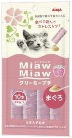 (まとめ)MiawMiaw クリーミープチ まぐろ 10本 (ペット用品・猫フード)【×48セット】 〈簡易梱包