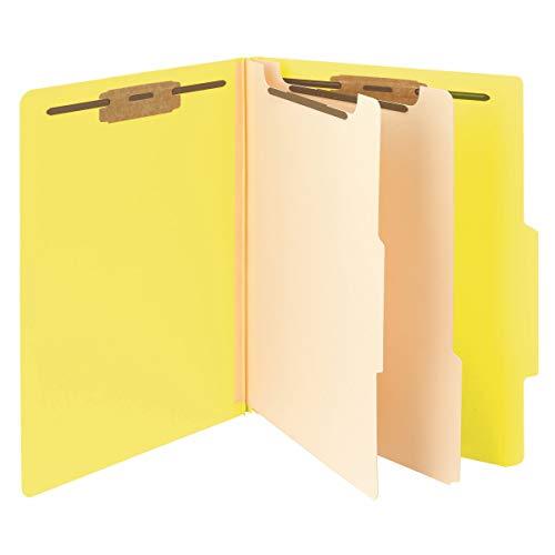 Folders Tab Classification Cut Metal - Smead Classification File Folder, 2 Dividers, 2