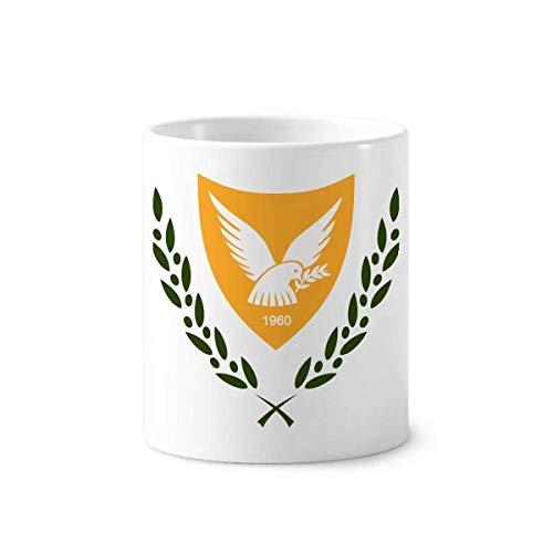 Cyprus National Emblem Country Toothbrush Pen Holder Mug White Ceramic Cup -