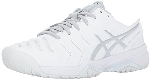 ASICS Women's Gel-Challenger 11 Tennis Shoe, White/Silver, 8 Medium US