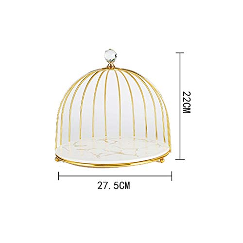 WRZH Snack Rack Cake Holder Dessert Display Round Plates Wedding Birthday Party Dining Table Decoration (Color : White)