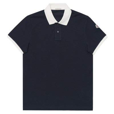 [モンクレール] ポロシャツ メンズ 半袖 袖ロゴ ダークネイビー/ホワイト MAGLIA POLO MANICA CORTA 83098 99 84556 773 Sサイズ 鹿の子 ゴルフ [並行輸入品]   B07T3Y9LMT