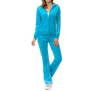 ClothingAve. Women's Lightweight Hoodie & Sweatpants FrenchTerry Suit 2 Piece Loungewear Set