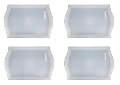 IKEA SMULA Tray- [FAMILY PACK of 4] TV Tray, Lap Tray, Patio, Breakfast in Bed - Translucent Polypropylene (Patio Breakfast)