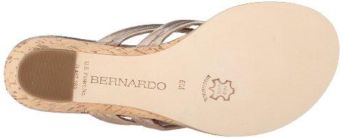 Bernardo Womens Miami Wedge Sandale Platine Veau