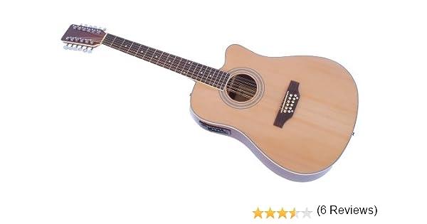 Cherrystone 4260180886146 - Guitarra de 12 cuerdas con pastilla ...
