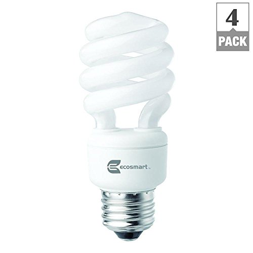(Ecosmart Spiral CFL Light Bulb, Daylight)
