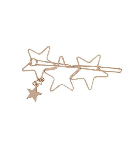 Cinq pointu Étoiles Pentagonal Clip Hair Broche en épingle à cheveux Couvre-chef Bijoux de la tête de tête