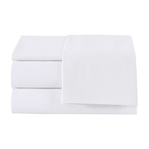 (Linum Home Textiles Pera Solid 4 Piece Sheet Set 100% Authentic Turkish Cotton Luxury Spa Hotel Collection-4 Pc, King, Soft White)