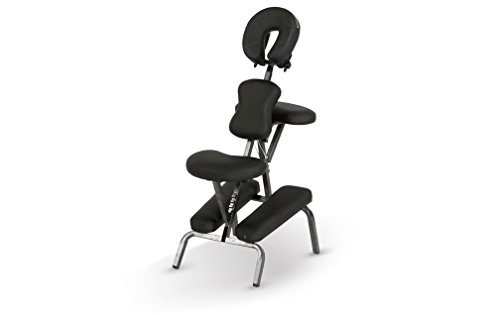 e Portable Folding Massage Chair w/Carry Case & Strap - Black (Folding Massage Chair)