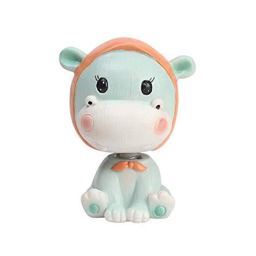 Peyan Cute Hippo - Car Shaking Head Decoration Home Car Interior Mini Decoration Car Interior Toy Supplies - Micro Landscape Accessories for Home Decoration