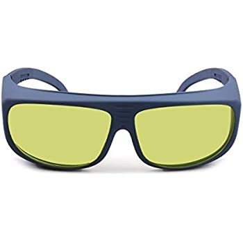 FreeMascot Professional OD 8+ 190nm-450nm/800nm-1100nm Wavelength Laser Safety Glasses for Typical 405nm, 445nm, 808nm, 980nm, 1064nm 1070nm, 1080nm Laser Light (Style 5)