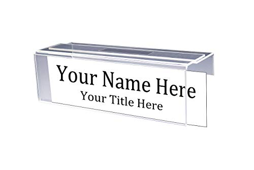 Adjustable Cubicle Name Plate Holders Single-Sided - Expands from 2