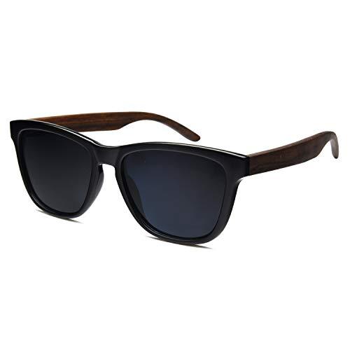 Wooden Sunglasses,Ablibi Polarized Womens Wood Sunglasses Handmade Lightweight Shades with Wooden - Handmade Keychain Wooden