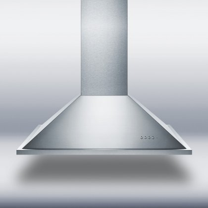 "Summit SEIH1536CV3 36"" 600 CFM Island Range Hood With Adjust"