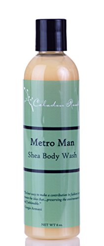 - Celadon Road Metro Man Shea Body Wash - Organic and All Natural Ingredients and Essential Oils - Sulfate and Paraben Free - Best Men's Shower Gel - 8oz - Made in USA