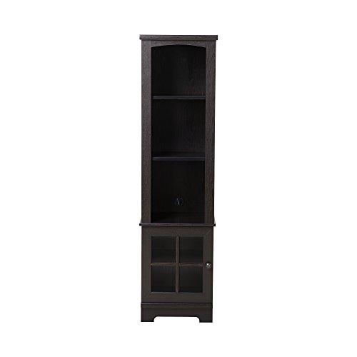 Homestar Z160091E Zarate Bookcase/Media Storage Pier, 15.35