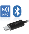 USB and Bluetooth connectivity with NFC pairing