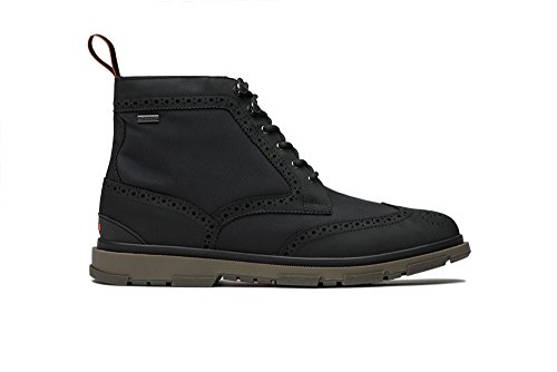 SWIMS Storm Brogue High Boot, Black/Gum, 10.5 by SWIMS