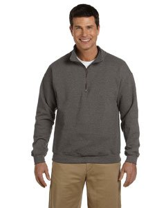 Gildan 18800 Adult Heavy BlendVintage 1/4-Zip Cadet Collar Sweatshirt - Tweed - XL