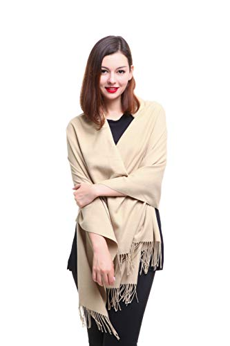 REEMONDE Womens Super Soft Long Shawl Solid Colors Warm Pashmina Big Scarf ()